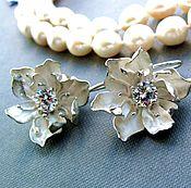 "Украшения handmade. Livemaster - original item Earrings ""Magnolia"". Handmade."