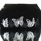 """Сумки и аксессуары ручной работы. Ярмарка Мастеров - ручная работа """"Порхающие бабочки"""" косметичка замшевая. Handmade."""