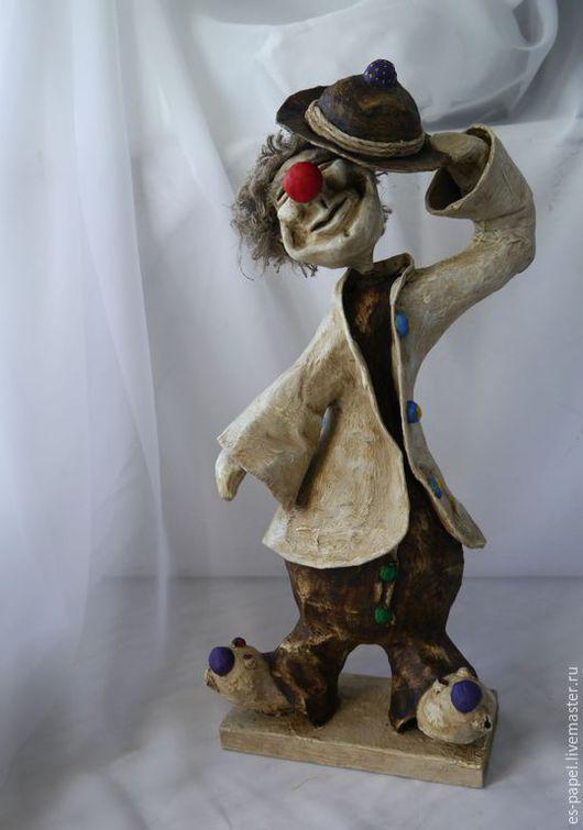 Статуэтки ручной работы. Ярмарка Мастеров - ручная работа. Купить Клоун Фима. Handmade. Клоун, бумага