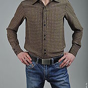 "Рубашки ручной работы. Ярмарка Мастеров - ручная работа Мужская шёлковая рубашка ""Federico"". Handmade."