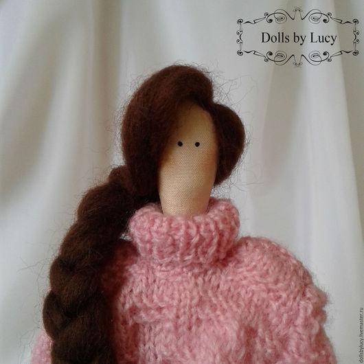 Куклы Тильды ручной работы. Ярмарка Мастеров - ручная работа. Купить Кукла Тильда в свитере и гетрах. Handmade. Бледно-розовый
