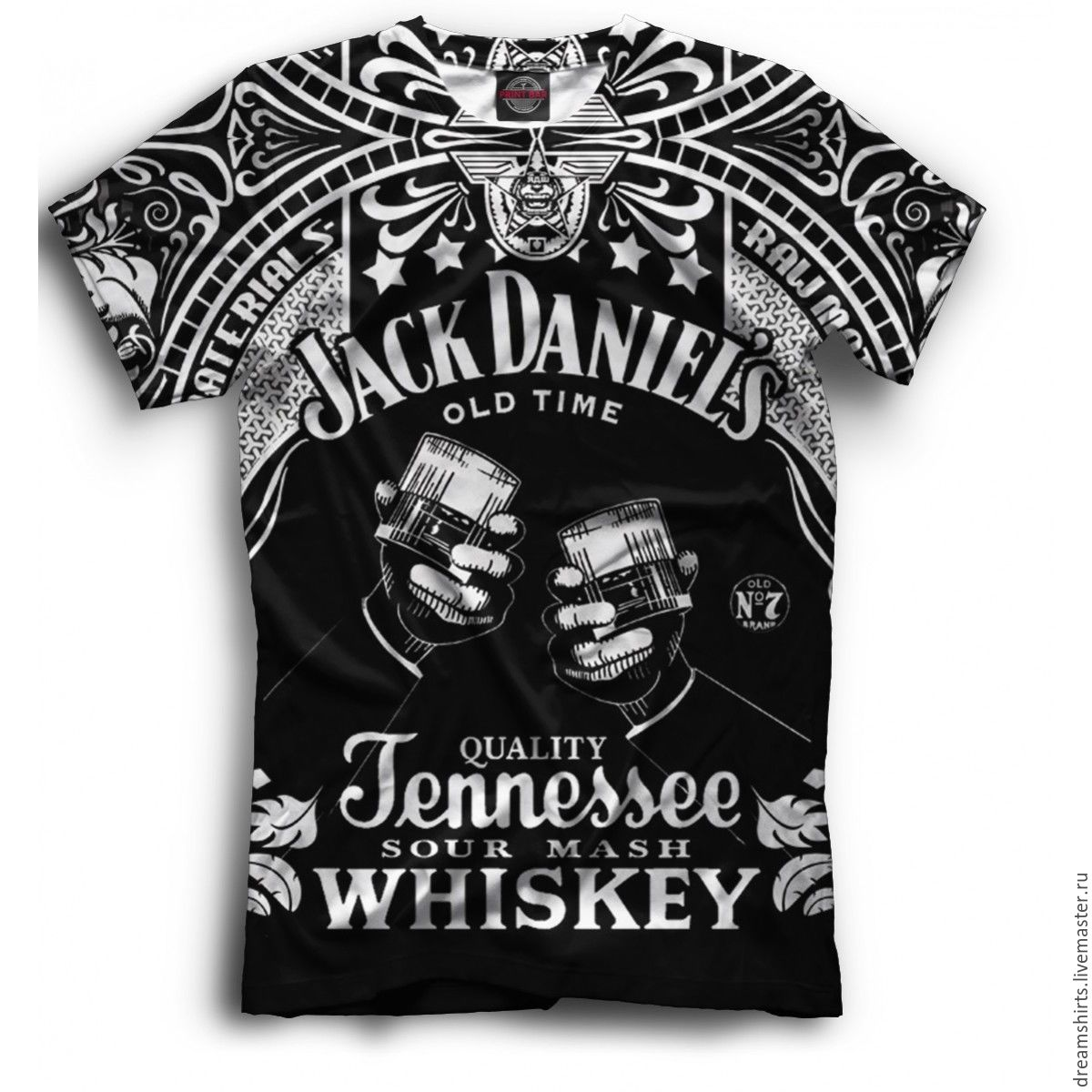T Shirt With Print Jack Daniels Whiskey Shop Online On