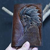 Cover handmade. Livemaster - original item Leather passport cover