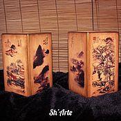Для дома и интерьера handmade. Livemaster - original item Pair of vases in Chinese style. Handmade.