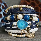 Украшения handmade. Livemaster - original item Boho-chic leather bracelet