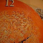 """Для дома и интерьера ручной работы. Ярмарка Мастеров - ручная работа Часы """"Оранжевое настроение"""". Handmade."""