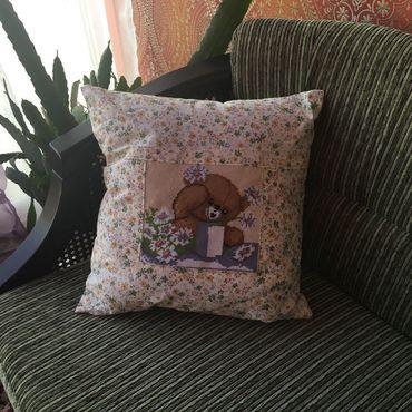 Для дома и интерьера ручной работы. Ярмарка Мастеров - ручная работа Подушка декоративная Добрый мишка. Handmade.
