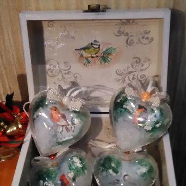"""Подарки к праздникам handmade. Livemaster - original item Набор елочных игрушек """"Птицы"""". Handmade."""