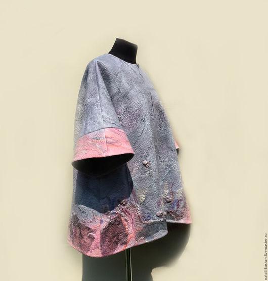 Верхняя одежда ручной работы. Ярмарка Мастеров - ручная работа. Купить Пальто в технике нуновойлок. Handmade. Бледно-розовый