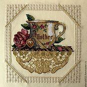 """Картины и панно ручной работы. Ярмарка Мастеров - ручная работа Вышитая картина """"Мамина чашка"""". Handmade."""