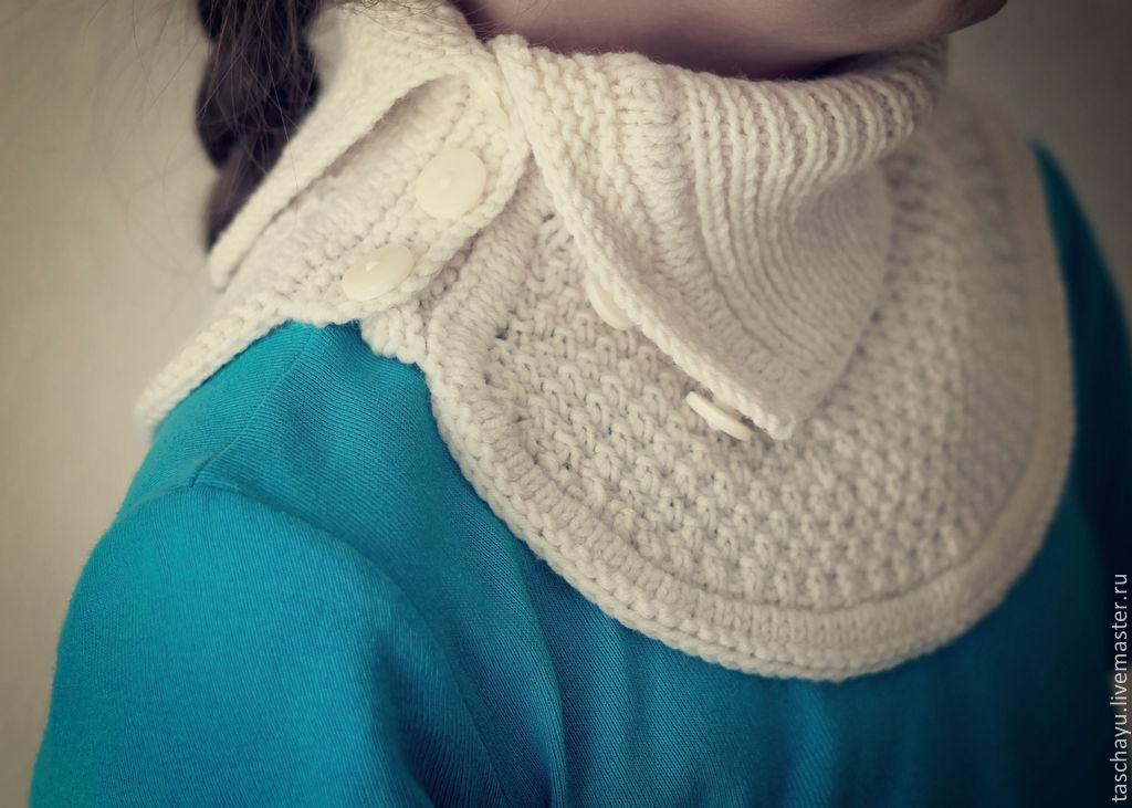 Видео как связать шарф горловину спицами для начинающих видео