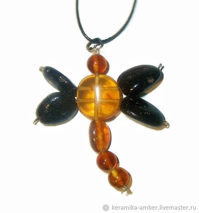 Dragonfly Baltic amber pendant insect Jewelry fashion gift girl, Pendant, Kaliningrad,  Фото №1