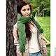 Шарф, шарфы, длинный шарф, теплый шарф, модный шарф, шарф на зиму, шарф с косами, шарф шерстяной, шарф красивый, женский шарф, шарф женский, женские шарфы, шарфы женские, зеленый шарф, зеленый женский