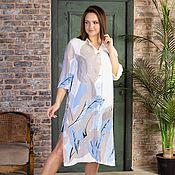 Одежда handmade. Livemaster - original item Viscose shirt dress. Handmade.