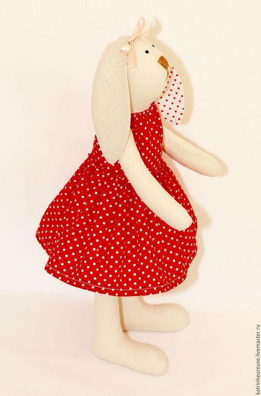 Куклы Тильды ручной работы. Ярмарка Мастеров - ручная работа. Купить Кролик тильда. Handmade. Ярко-красный, текстильная кукла