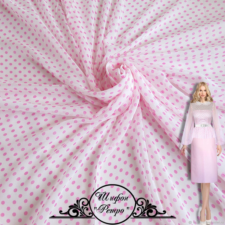 "Шифон шелковый ""Ретро"" итальянские ткани, Fabric, Sochi,  Фото №1"