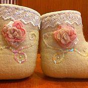 """Обувь ручной работы. Ярмарка Мастеров - ручная работа валенки """"Зимние розы"""". Handmade."""