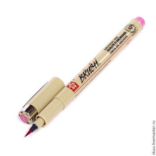 Открытки и скрапбукинг ручной работы. Ярмарка Мастеров - ручная работа. Купить 2 цвета ручка-кисточка Pigma Brush. Handmade.
