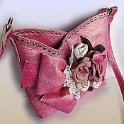 Сумки и аксессуары ручной работы. Ярмарка Мастеров - ручная работа Розовая летняя сумочка Pink flower. Handmade.