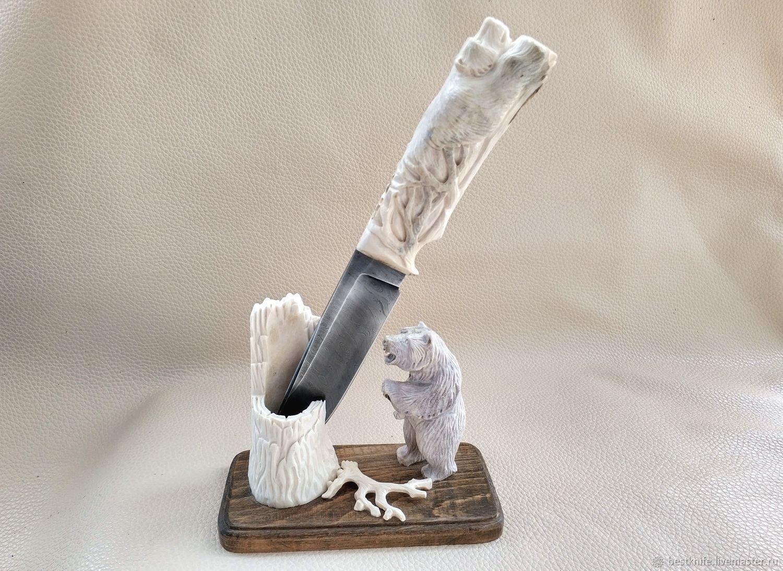 Weapons handmade. Livemaster - handmade. Buy Gift knife composition Bears.Handmade, gift to man, handmade knife