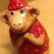 Куклы и игрушки ручной работы. Ярмарка Мастеров - ручная работа Обезьянки - колокольчики. Handmade.