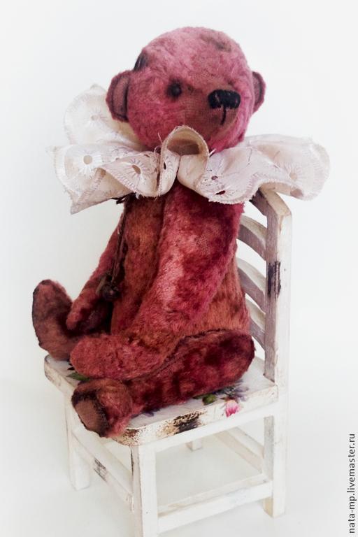 Мишки Тедди ручной работы. Ярмарка Мастеров - ручная работа. Купить Арно. Handmade. Брусничный, мишка винтажный, стеклянные глазки