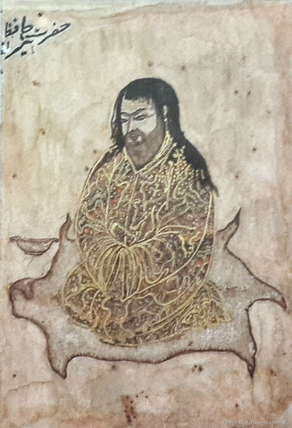 Miniature: Indian Sufi, 13th century, copy, Pictures, Moscow,  Фото №1