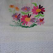 Русский стиль handmade. Livemaster - original item Embroidered towel, Flowers.. Handmade.