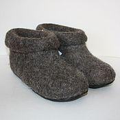 Обувь ручной работы. Ярмарка Мастеров - ручная работа тапочки валяные - Бабушины. Handmade.