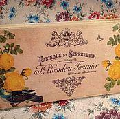 """Для дома и интерьера ручной работы. Ярмарка Мастеров - ручная работа Шкатулка-купюрница """"Птица и розы"""". Handmade."""