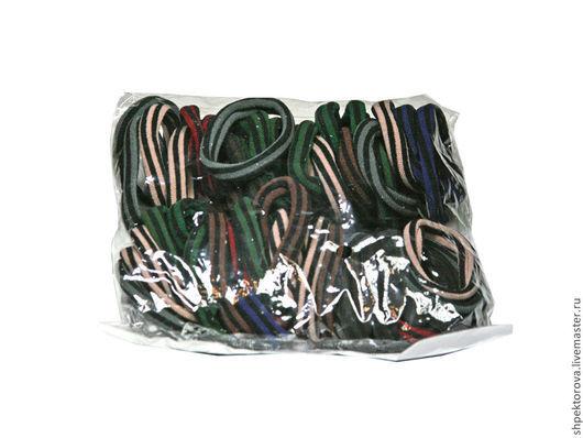 Другие виды рукоделия ручной работы. Ярмарка Мастеров - ручная работа. Купить Резинки для волос в упаковках полосатые (50шт) основа. Handmade.