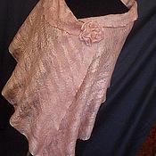 Аксессуары ручной работы. Ярмарка Мастеров - ручная работа винтажный розовый палантин с брошью. Handmade.