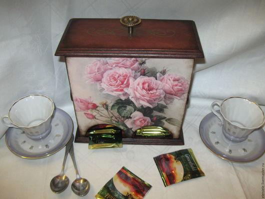 Кухня ручной работы. Ярмарка Мастеров - ручная работа. Купить Чайный домик Розы и шмели. Handmade. Коричневый, для кухни, краски