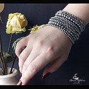 Украшения handmade. Livemaster - original item Bracelet-cuff natural hematite