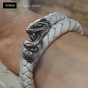 Украшения handmade. Livemaster - original item Bracelet braided: Leather snake bracelet, Melchior. Handmade.
