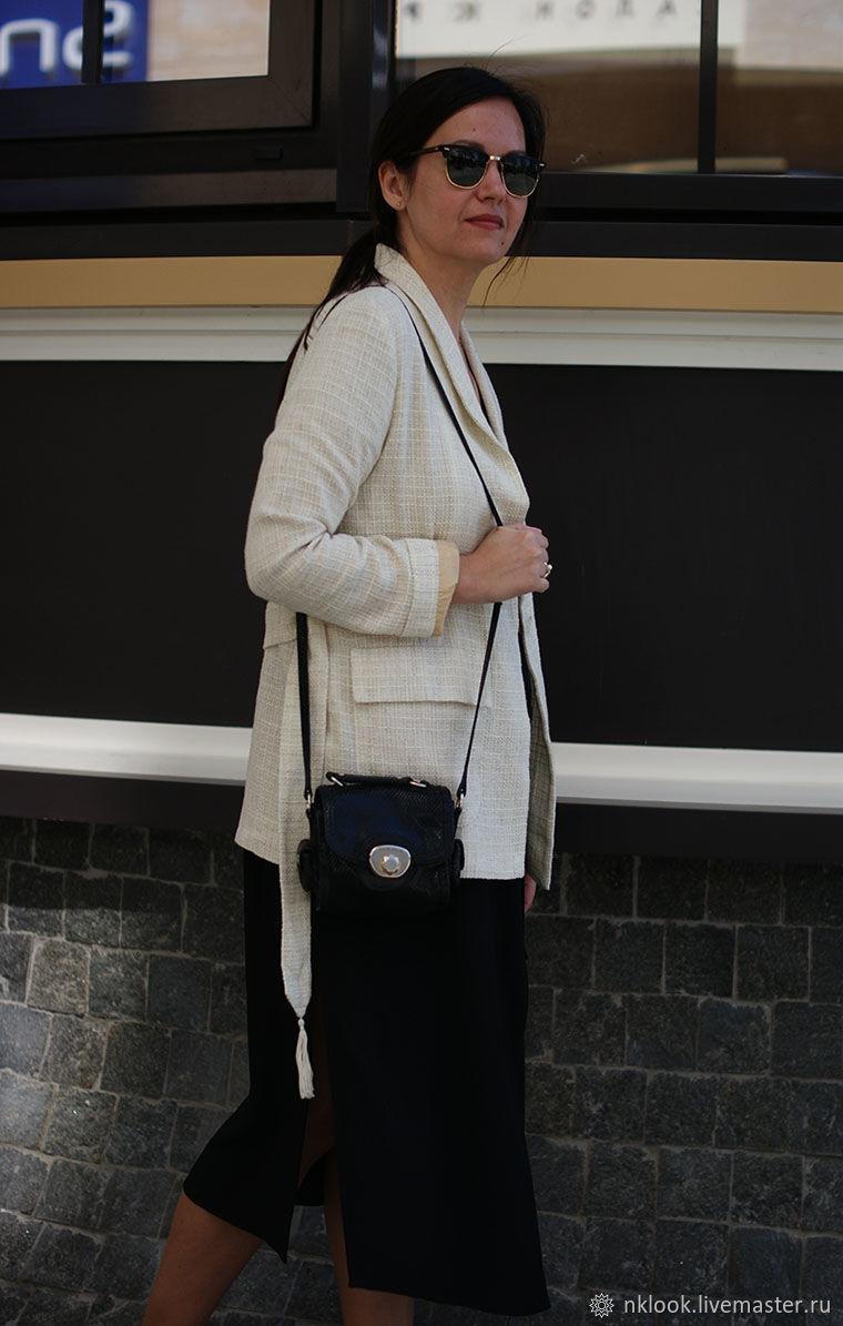Женский пиджак жакет с поясом, льняной женский жакет пиджак бежевый, Пиджаки жакеты, Киев, Фото №1