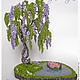 Букеты ручной работы. Ярмарка Мастеров - ручная работа. Купить Глициния из бисера. Handmade. Нежность, интерьерная композиция, дерево, водоем