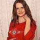 Платья ручной работы. Женская туника-платье в терракотовых тонах с вышивкой. Зареслава. Ярмарка Мастеров. Платье-туника, славянские символы