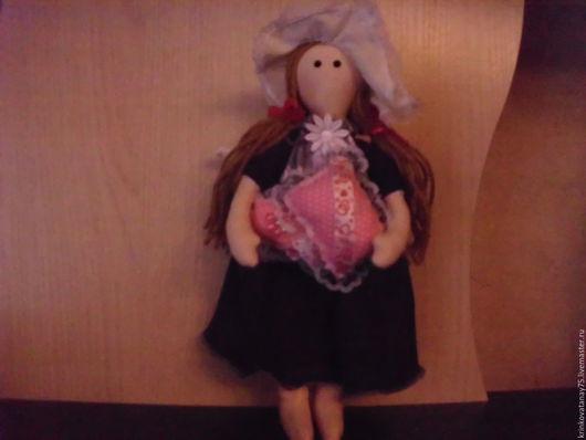 Человечки ручной работы. Ярмарка Мастеров - ручная работа. Купить Маленькая куколка. Handmade. Тёмно-фиолетовый, бязь хлопок