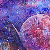 Картины и панно ручной работы. Ярмарка Мастеров - ручная работа Если ночи чернично-чайные... Картина-принт на холсте.. Handmade.