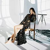Одежда handmade. Livemaster - original item Black dress boudoir Elizabeth. Handmade.