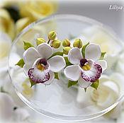 Украшения ручной работы. Ярмарка Мастеров - ручная работа Серьги с орхидеями ручной работы. Handmade.