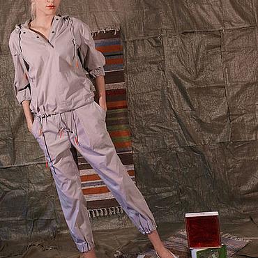 Одежда ручной работы. Ярмарка Мастеров - ручная работа Костюм в спортивном стиле из воздушного хлопка. Handmade.