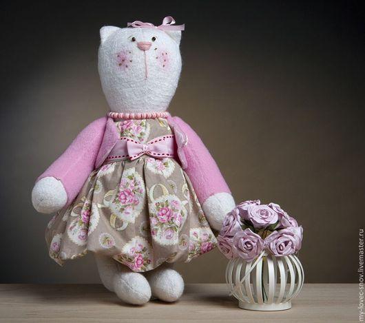 Игрушки животные, ручной работы. Ярмарка Мастеров - ручная работа. Купить Набор (МК) для шитья кошка Матильда. Handmade.