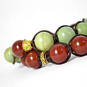 Украшения handmade. Livemaster - original item Set Shamballa bracelets with onyx and carnelian. Handmade.