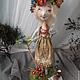 Куклы тыквоголовки ручной работы. Ярмарка Мастеров - ручная работа. Купить Июль продана. Handmade. Бежевый, лето, дерево