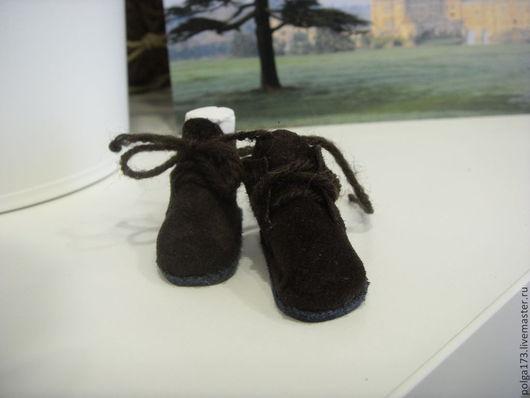 Одежда для кукол ручной работы. Ярмарка Мастеров - ручная работа. Купить Ботиночки для куколки БЖД. Handmade. Коричневый, обувь для бжд
