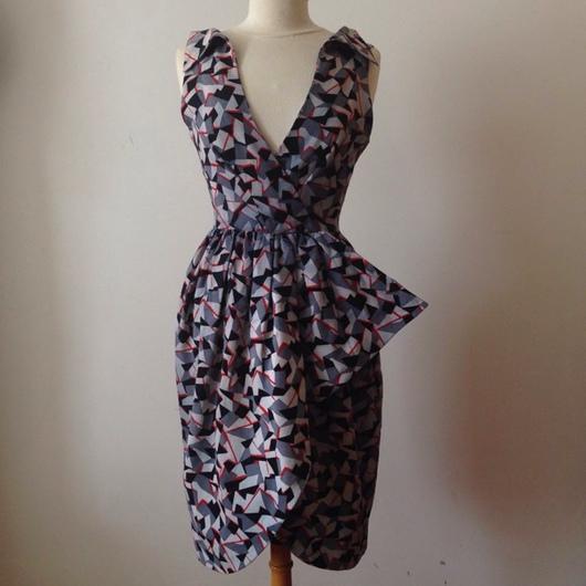 Одежда. Ярмарка Мастеров - ручная работа. Купить Винтажное Платье 1970-х годов. Handmade. Винтажное платье, Бокалы, распродажа