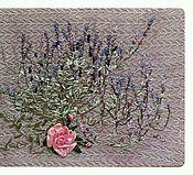 Картины и панно ручной работы. Ярмарка Мастеров - ручная работа Вышивка лентами Лаванда. Handmade.