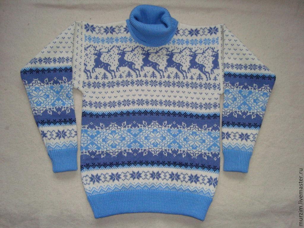 Женский вязаный свитер с оленями доставка
